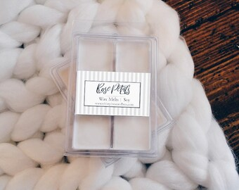 2 Rose Petals Wax Melts  - Gift for her, gift for him.