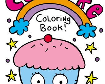 PDF Printable Digital Cupcake Coloring Book by Jelene