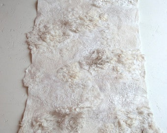 special order for Katryn; 2 small felted floor pieces 'whitescape'