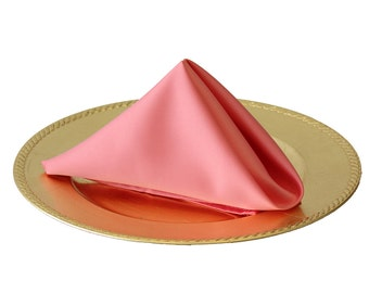 YCC Linen - Coral Napkin for Weddings (Pack of 10), 20 Inch L'amour Wedding Napkins