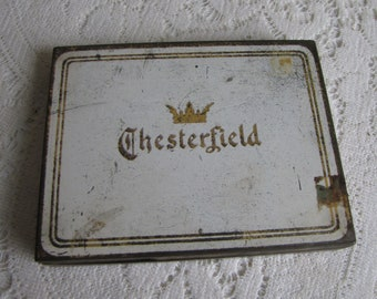Chesterfield's Cigarette Tin Vintage Boxes and Tins Tobaccianist