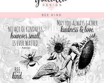 Bee Kind - Digital Stamp Set