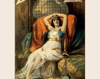 "Frederick Bancroft Price of Magicians, Magic, slave of the orient 1897 ,  8x10""  Canvas art print"