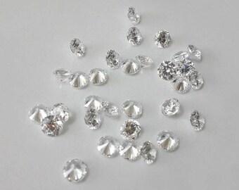 3.0mm cz, loose cubic zirconia, wholesale, clear, round cz, diamond cutting, loose gemstone, brilliant cut, AAA CZ,eternity band stone,10pcs