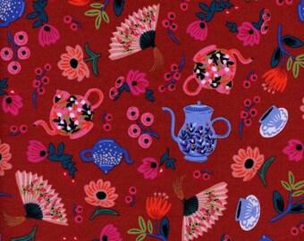 Garden Party Crimson Red - Wonderland - Anna Bond Rifle Paper Co - Cotton + Steel - 8019-02