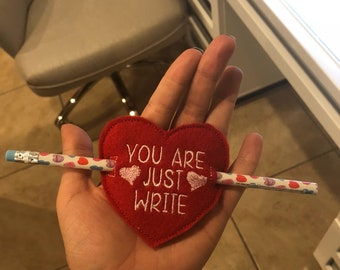 Set of 3 Pencil Valentine's Day Gifts