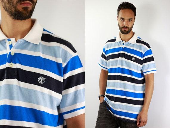 Timberland Poloshirt 90s Poloshirt Striped Polo Shirt Vintage Striped Polo Shirt Timberland Shirt Hiphop Polo Shirt Vintage Shirt 90s Polo