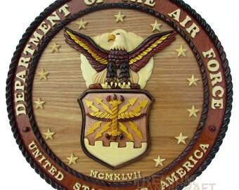 """12"""" Handcrafted Wooden Emblem WE16286"""