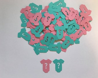 Gender Reveal Confetti - Pink and Blue ? Confetti - Pink and Blue Confetti - Gender Reveal Party Decorations - Boy or Girl Party - He or She