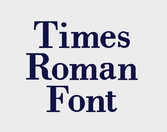 """Times Roman Machine Font Alphabet in multiple file formats in 3 sizes (1"""", 2"""", 3"""") - INSTANT DOWNLOAD - Item # 1013"""
