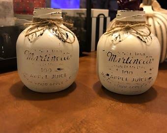 Upcycled Martinelli's Apple Juice Vase