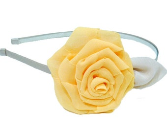 /Headband - yellow flower headband