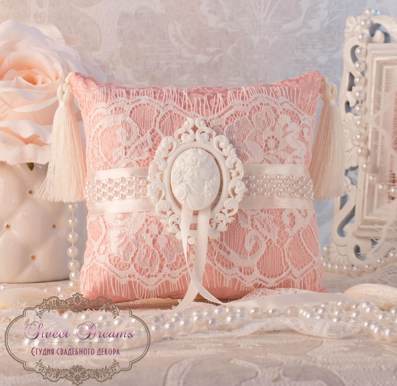Vintage Ring Pillow Wedding Ring Pillow Ring Bearer Pillow