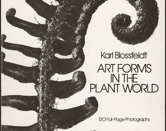 Art Forms in the Plant World by Karl Blossfeldt. He is known for his close-up photographs of plants & living things. 120 B/W plates. (28636)