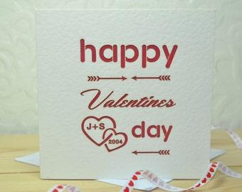 Personalised Laser Cut Valentines Card