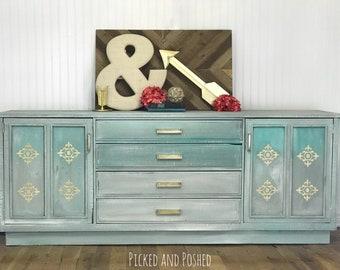 Ombre vintage dresser buffet console