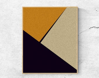 Geometric wall art print, Abstract art print, Large wall art printable, Digital download art, Modern art print, Geometric art print