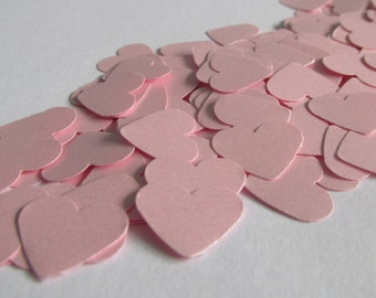 300 Pink heart confetti - wedding - birthday - bridal shower - baby shower - Table decoration - Confetti -