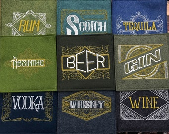 Design Your Own Set of Embroidered Wool Coasters