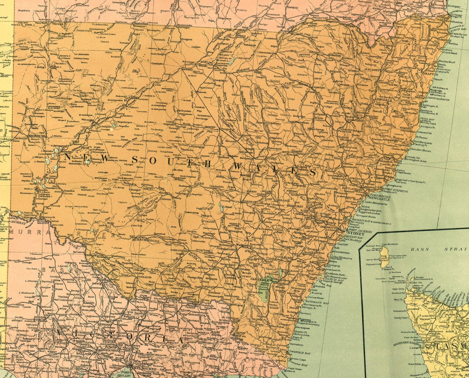 Australia 1916 new south wales wall world map ancient world request a custom order and have something made just for you gumiabroncs Choice Image