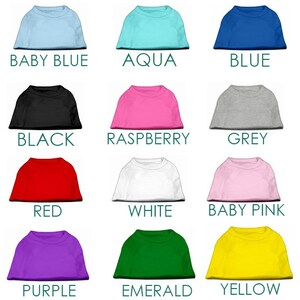 Blank Dog Shirts for printing, vinyl, embroidery - Dog Tshirt Blanks -Blue, Black, Pink, Grey, Red, White, Purple & More - poly/cotton blend