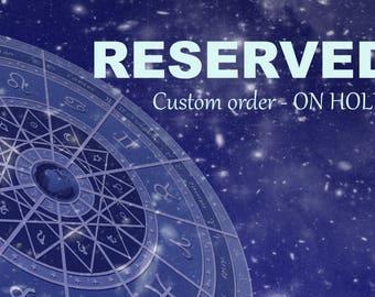 RESERVED for V. - Alluring Lunar Elf inspired vessel - Handcrafted Blue Topaz pendant necklace