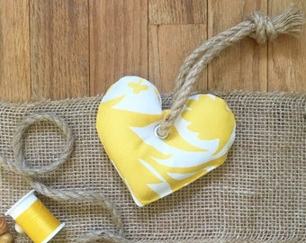 Yellow & White Heart Small Dog Toy with Squeaker, Stuffed Small Dog Toy, Pet Toy, Cute Small Dog Toy, Colorful Small Dog Toy