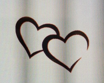 Double Hearts Decal