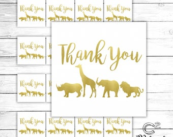 Gold Safari Gift Tag
