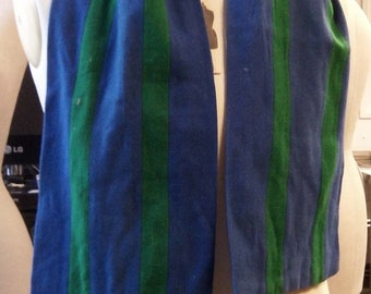 All Wool 1960s English College Scarf