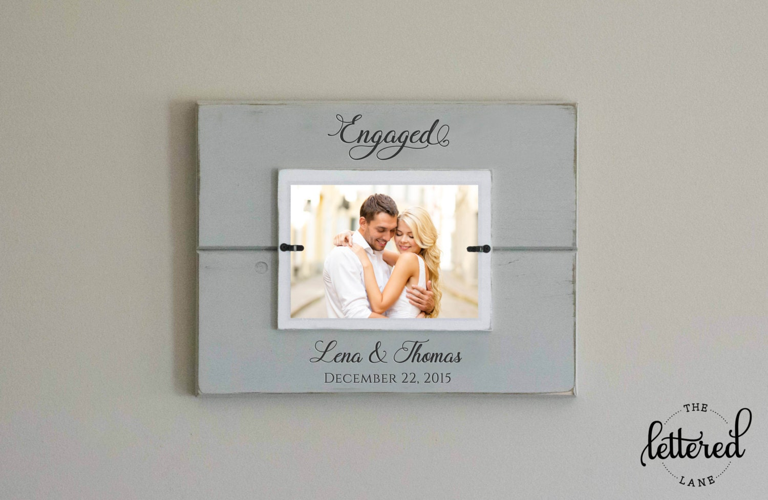 Engaged Picture Frame, Engagement Personalized Photo Frame ...