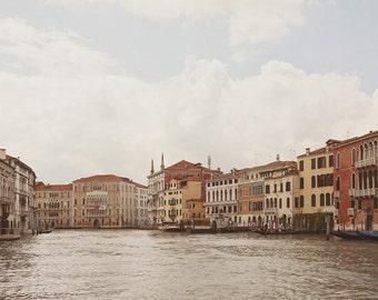 "Grand Canal, Venice Photography, Italy Art Print, Italian Wall Decor, Large Wall Art, Home Decor, Travel Photo, ""The Floating City"""