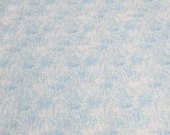 A Winter's Song-Blue and White Cotton Fabric by Jane's Garden for Henry Glass