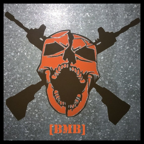 Items Similar To COD Black OPS 3 Team DeathMatch Skull Logo With CLAN Name On Etsy