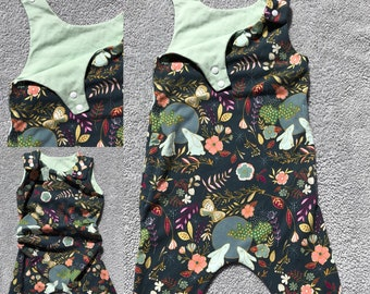 Bunny grow-with-me romper for the littles in your life