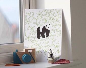Monochrome Panda Print PDF COPY ONLY