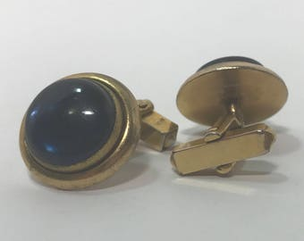 "Vintage Blue ""stone"" Cuff Links"