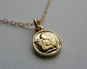 Tiny Cherub Necklace (Gold)