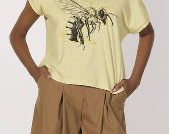 Printed yellow bee T-shirt