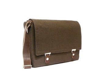 "13"" / 15"" / 17"" MacBook Pro messenger bag - chocolate brown"