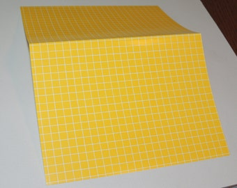 Mid Century Modern Yellow Note cards and Envelopes