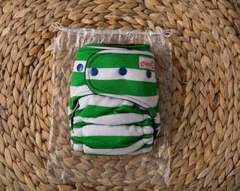 Goodmama Fitted Cloth Diaper, Brand New, OS Organic Bamboo Fleece,  Cotton Knit