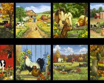 Blank Quilting - Old Farmstead - Farm Blocks Panel