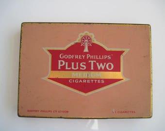 Tin of 50 Plus Two Medium Cigarettes by Godfrey Phillips c.1930/40