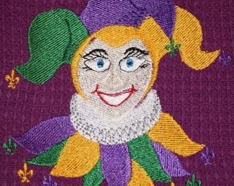 Jester machine embroidery design