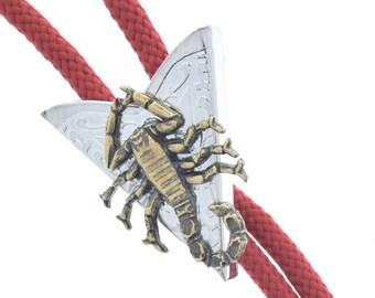 Western Bolo Tie, scorpion , made in USA