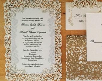 Laser cut layered invitations
