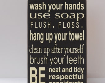 Bath Sign Etsy - Bathroom signs for home