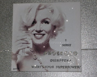 """Stunning Marilyn Monroe Diamond Collection Canvas Print, wall art. By D.Bishop. 20""""x20"""""""