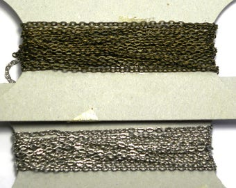 1m Loose Metal Trace Chain, Cable Chain 3 x 4 mm for Jewelry- Antique Gold or Silver